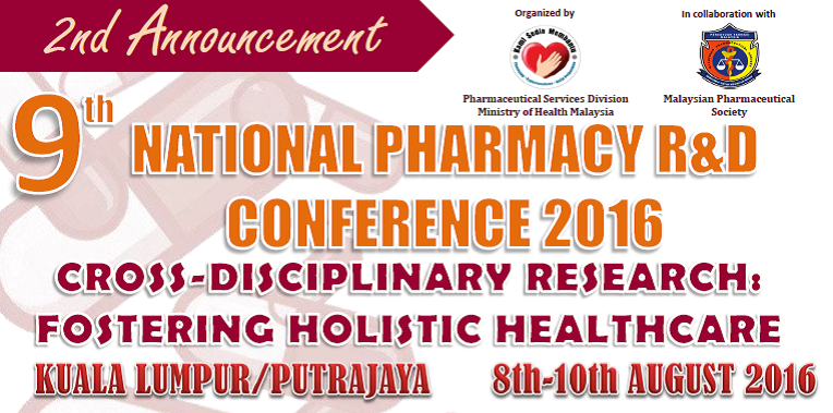 2nd Announcement 9th National Pharmacy RnD Conference 2016
